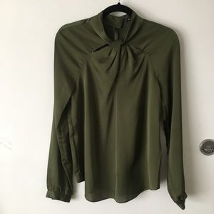 Banana Republic Knotted Neck Blouse